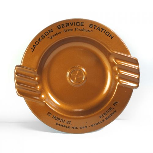 Jackson Service Station 542 Vintage Metal Ashtray