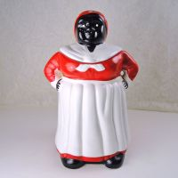 Black Americana Mammy Figural Ceramic Cookie Jar Aunt Jemima