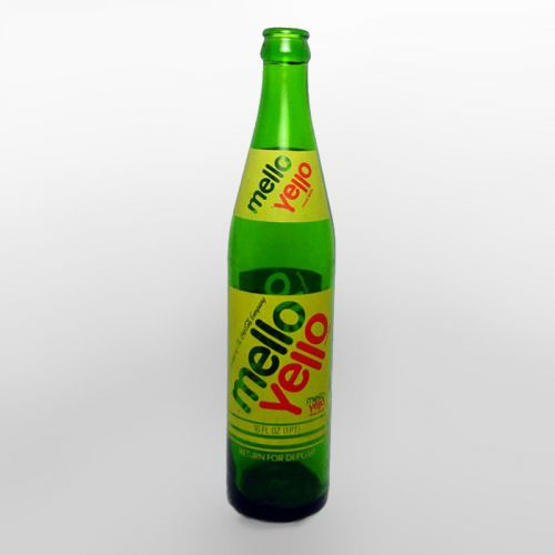 Mello Yello 16 oz. Green Glass Soda Bottle
