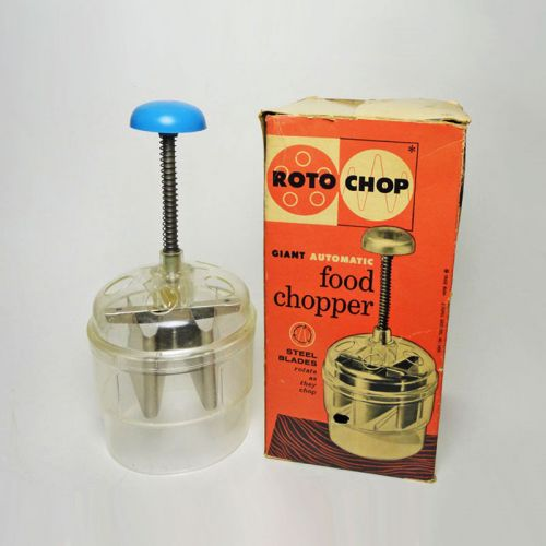 Popeil Roto Chop 1958 Vintage Automatic Food Chopper