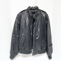 U2 Wear Me Out Mens Size 40 Leather Bomber Flight Jacket