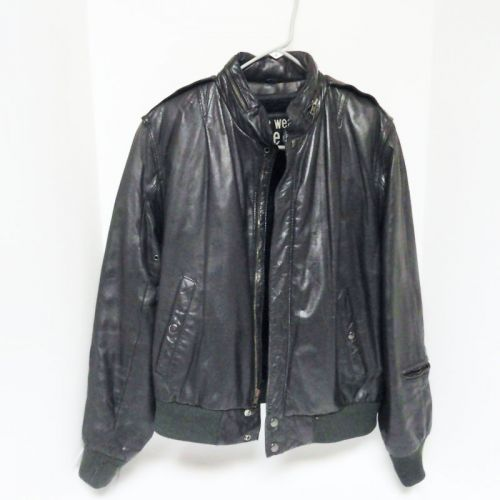 U2 Wear Me Out Mens Size 40 Leather Bomber Jacket