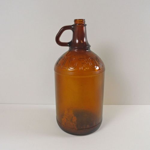 Clorox Bleach Half Gallon Vintage Brown Jug #15