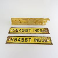 1952 Indiana Front and Back Metal Truck License Plates
