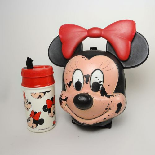 Minnie Mouse Head Vintage Lunch Box with Sippy Thermos