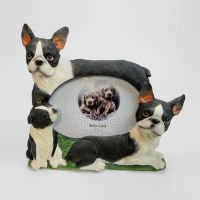 Boston Terrier Polyresin Dog Photo Frame 6x4 Picture
