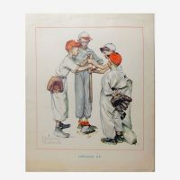 Norman Rockwell Vintage Print Titled Choosin' Up
