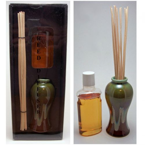 Vanilla Oil Reed Diffuser Set with Reeds and Vase