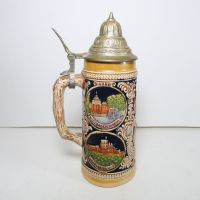 Vintage Gerz West Germany Beer Stein Mug with Lid
