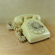 Western Electric 1966 Cream Vintage Rotary Telephone
