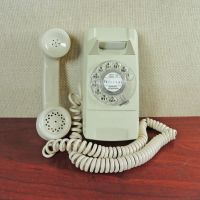 GTE Automatic Electric Almond Rotary Wall Telephone