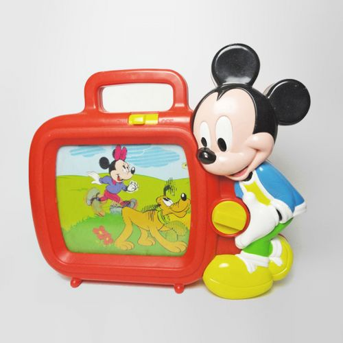 Disney Mickey Mouse Vintage Wind Up Musical Toy Television