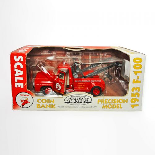 Gearbox 1:24 Scale 1953 Ford F-100 Tow Truck Toy Coin Bank