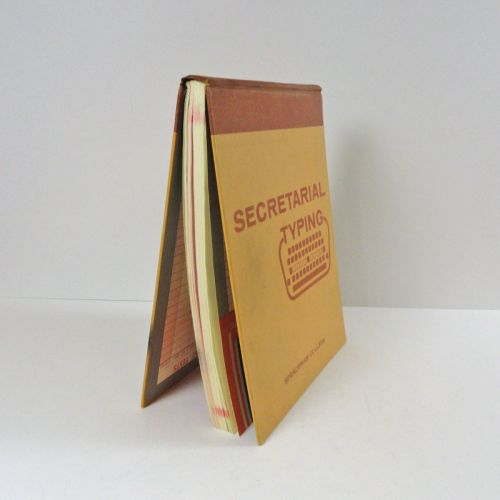 Spencerian College 1957 Secretarial Typing Textbook
