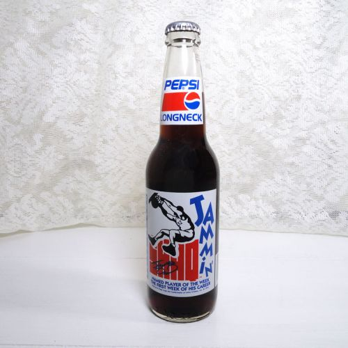 Shaq Jammin Full Longneck Pepsi Bottle 1992-1993