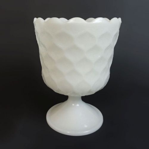 E.O. Brody Vintage Milk Glass Honeycomb Compote Bowl