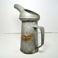 Edward One Quart Vintage Galvanized Metal Oil Can