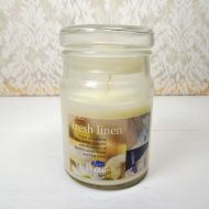 Fresh Linen 3.5 oz. Scented Candle in Glass Jar