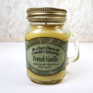 French Vanilla 3.5oz Scented Candle Small Glass Mug