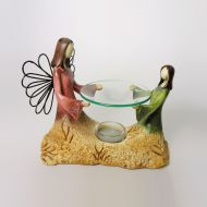 Angel and Child Emerging from Earth Candle Warmer