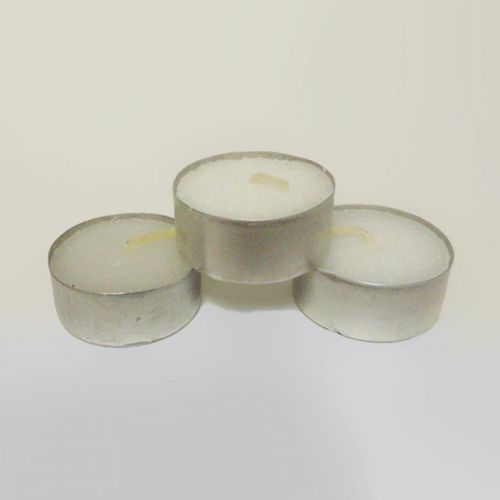 Candles Scented Tealight Three Unscented Aluminum Cups