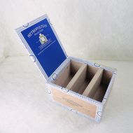 Nat Sherman Empty Wood Cigar Box with Wood Dividers