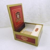 Troya X-tra Long Filler Empty Wood Cigar Box Dominican Republic