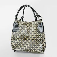 Letter K Pattern Vinyl Handbag or Tote Matching Wallet