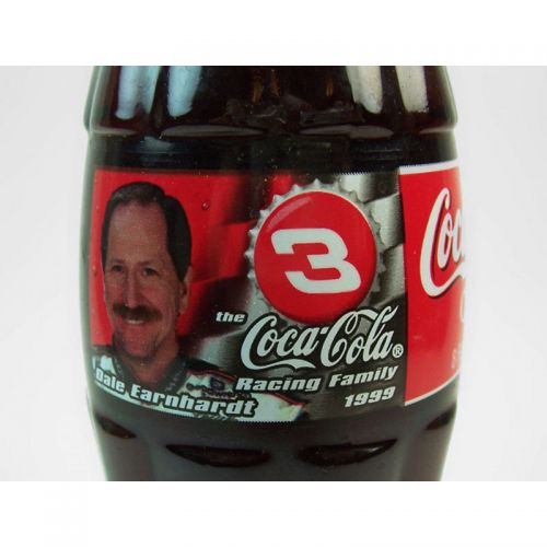 Dale Earnhardt Sr No. 3 Full 8 oz. Coke Classic Bottle