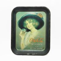 Coca Cola Gibson Girl Metal Tray with Wall Hanger