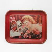 Coca Cola Hilda Clark Metal Tray with Wall Hanger