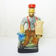 Jim Beam Whiskey Decanter 1970 Paul Bunyan and Blue Ox Babe