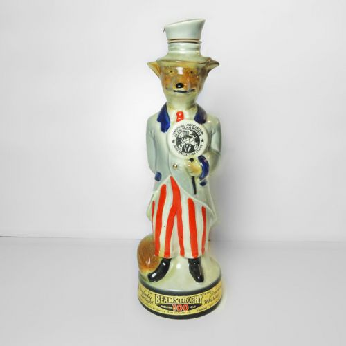 Jim Beam's Trophy 1971 Uncle Sam Fox Regal China Decanter