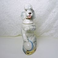 Jim Beam Whiskey Decanter 1970 Penny Poodle with Blue Ball