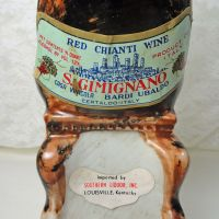 Vintage Red Chianti Wine Decanter Donkey Sitting in a Chair