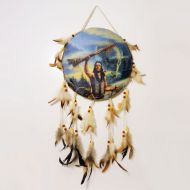 Dream Catcher Canvas Indian Warrior Ceremonial Stick