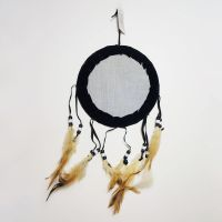 Dream Catcher Colorful Lone Wolf Howling in Storm