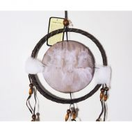 Dreamcatcher Small Three Wild White Horses Flowing Mane