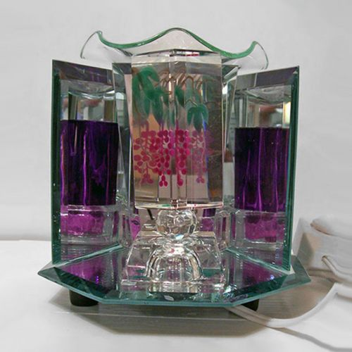 Painted Grapevine Glass and Mirrors Electric Oil Warmer