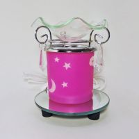 Cloud Moon Stars on Pink Sky Electric Oil Tart Warmer