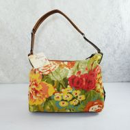 Relic Hobo Floral Canvas Shoulder Bag with Tag