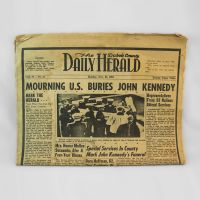 Dubois County Daily Herald 11-25-63 Mourning Kennedy
