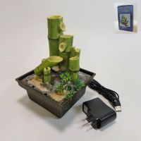 Bamboo Shoots Style Dual Powered Mini Indoor Fountain