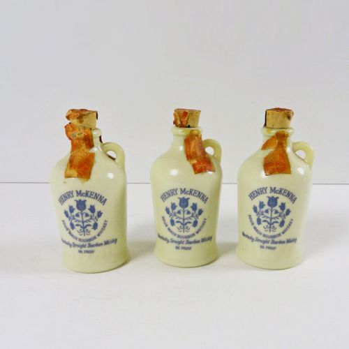 McKenna Bourbon Vintage Miniature Jugs Set of 3