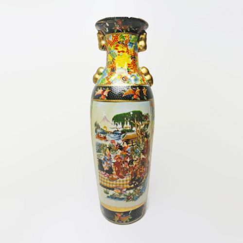 Oriental Style Vintage Ceramic Vase Picnic by the Sea