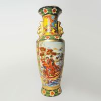Oriental Style Vintage Ceramic Vase Standing on a Boat