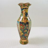 Oriental Style Vintage Ceramic Vase Under the Umbrella