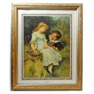 Framed Print by Frederick Morgan Titled Sweethearts