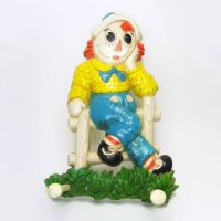 Raggedy Ann Andy Vintage Wall Plaques Clothes Hanger