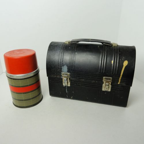 Aladdin Black Dome Lunchbox with Wide Mouth Thermos